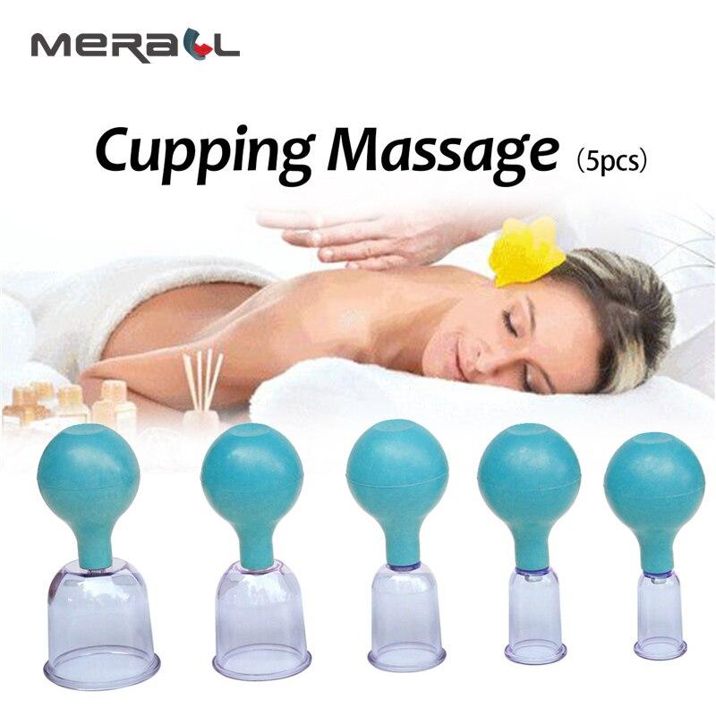 5 шт. массажные чашки ПК резиновые антицеллюлитные банки массажный вакуумный массаж терапия Набор семейного тела помощник для массажа