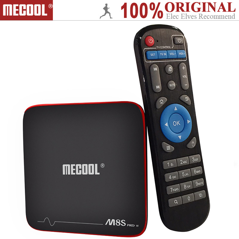 MECOOL M8S PRO W Android TV Box S905W prise en charge CPU 2.4 GHz WiFi 4 K H.265 prise en charge Miracast Airplay DLNA 64Bit 2 GB RAM + 16 GB ROM