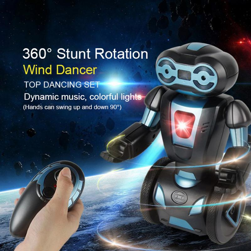 Electric Intelligent Induction Load Single Wheel Balance Remote Control Stunt Robot Toy For 5 Operating Modes