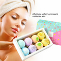 8pcs Bath Salt Body Essential Oil Bath Ball Body Skin Whitening Ease Relax Stress Relief Natural Bubble Shower Bombs Ball Gift