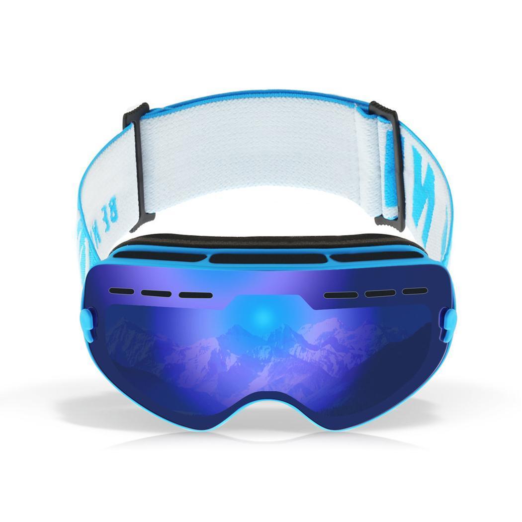 Lunettes de Ski de neige durables pour enfants avec sac PE Double lentille Anti-buée masque coupe-vent lunettes chaudes enfant hiver Ski passe-temps cadeau