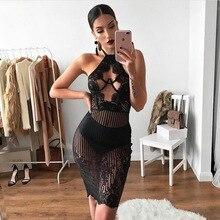 MUXU black lace dress sexy transparent women clothing kleider vestidos clothes bodycon fashion backless sundress frocks