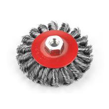 цена на Twist Steel Wire Brush Polishing Brush Wheel for Grinder Rotary Tool Round Brushes Disc Hot Sale