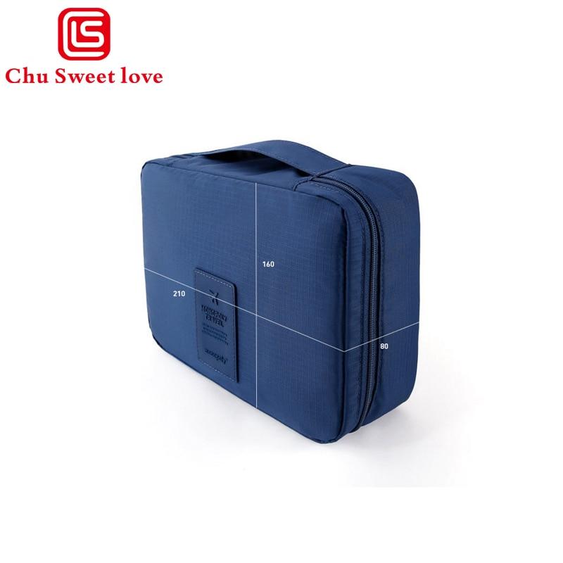 Waterproof Women Men Cosmetic Bag Makeup Bag Small Square Bag Travel Organizer Necessaries Make Up Case Wash Toiletry Bag