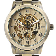 Top Brand Luxury Mechanical Watch Mens Self Wind Bronze Metal Wrist Watch Roman Numerals Dial reloj masculino Top Gift Clock стоимость