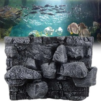 Reptiles Large 3D Stone Rock Aquarium Background PU Board Fish Tank Backdrop Board Plate Aquatic Wall Decorations