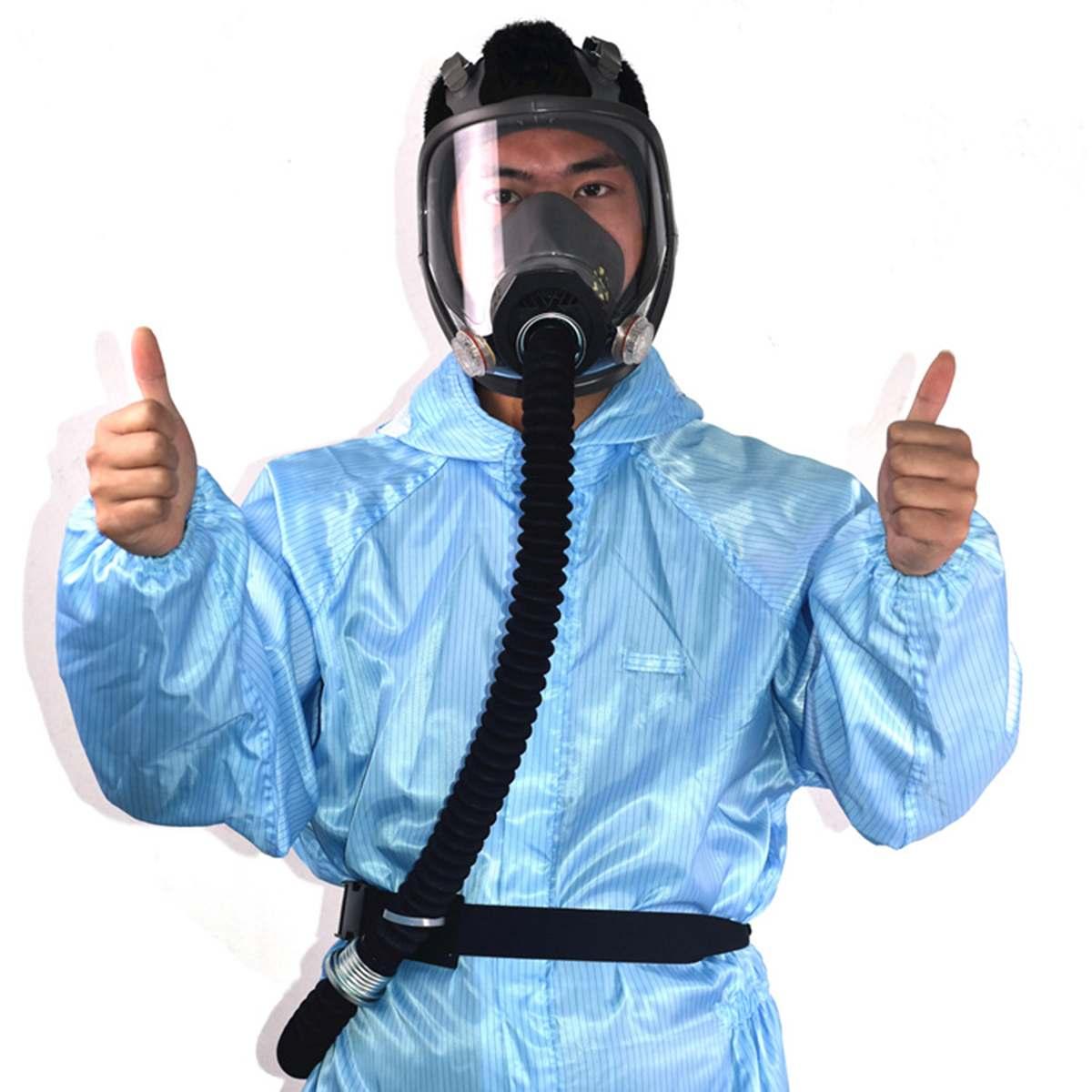 Электрическая постоянная подача воздуха подача Полный лицевой противогаз респиратор системы защитная маска резиновое рабочее место обесп