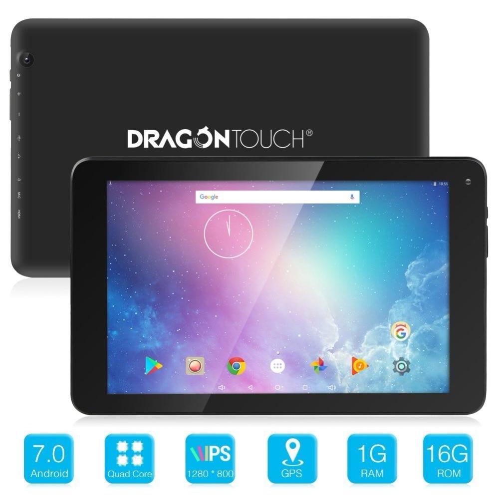 купить Dragon Touch V10 10 inch GPS Android 7.0 Wifi Bluetooth Tablet Nougat MTK Quad Core 1GB RAM 16GB Storage, 800x1280 IPS Display по цене 7092.14 рублей