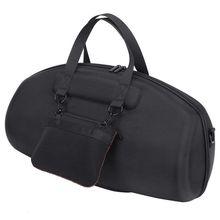 HOT For JBL Boombox المحمولة بلوتوث مكبر صوت ضد الماء غطاء واقٍ مزخرف لهاتف آيفون حقيبة حمل صندوق حماية (أسود)