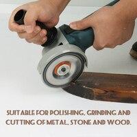 220V 880W Handheld Electric Angle Grinder Polisher Multifunctional Grinding Machine for Metal Wood Stone Cutting Polishing