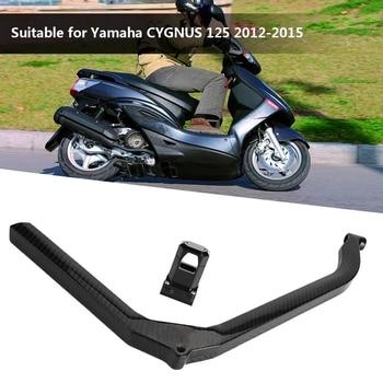 Varilla de refuerzo de motocicleta de fibra de carbono, varilla fija de haz brillante Negro para Yamaha CYGNUS 125 2012 2013 2014 2015