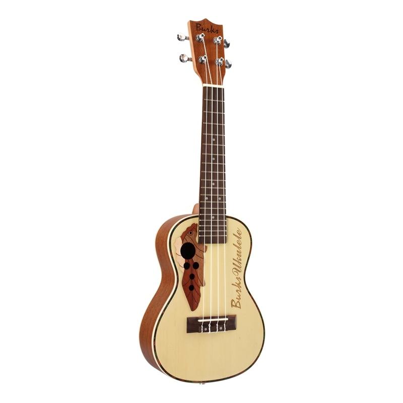 ABGZ-BURKS ukulélé épicéa Concert ukulélé guitare 4 cordes hawaïenne guitare Instruments de musique