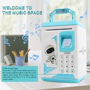 Image 2 - Piggy Bank Money Box Cash Coin Electronic Fingerprint ATM Password Coin Money Saving Box Jar Storage Box For Kids Birthday Gift