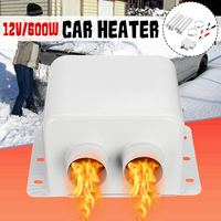 12V Car Heater 600W Car Glass Defroster Window Heater for Winter Auto Air Outlet 2 Warm Dryer in Car Goods Interior Accessories