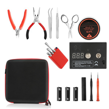 Coil Father Vape Tool Kit Combo Set Full Master DIY Kit V2 Jig Meter Tweezers Heat Wire cotton Pliers Vape Accessories 29 2019 new original not fire vape pen pluscig p3 heat without burn vaporizer with 2600mah vape kit electronic cigarette for heets
