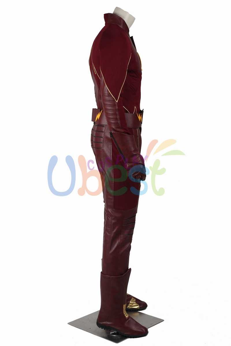 Nieuwe De Flash Seizoen 2 Barry Allen De Flash Cosplay Kostuum Halloween Outfit