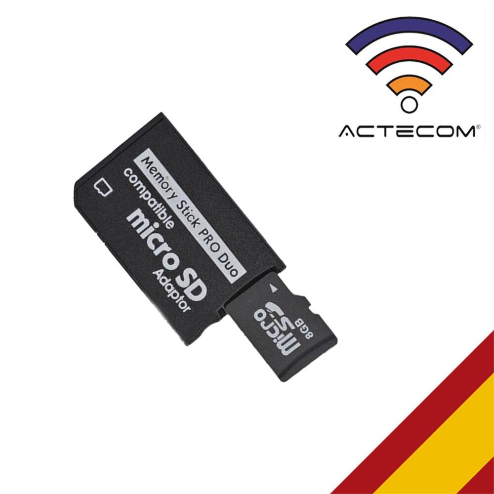 ACTECOM ADAPTADOR TARJETA MICRO SD/ MICROSD A PSP MEMORY STICK PRO DUO