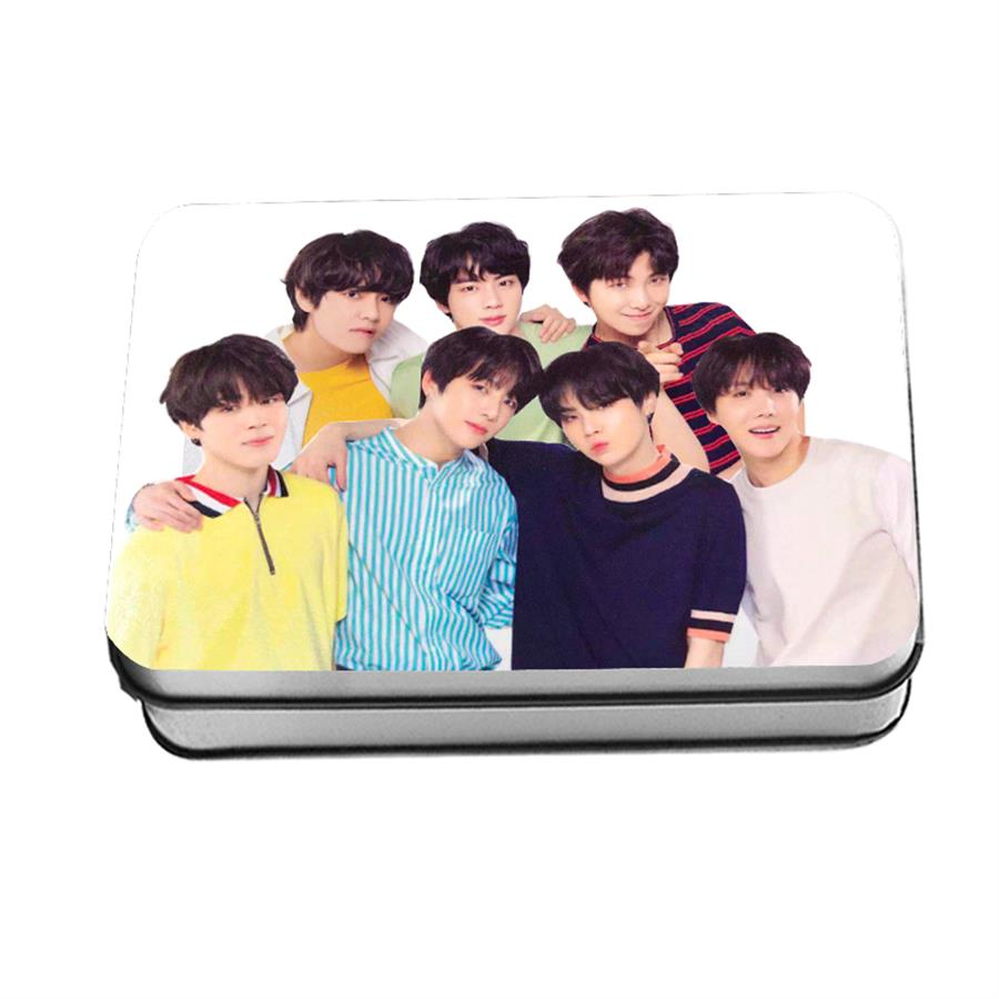 Symbol Of The Brand Kpop Bts Love Yourself Japan Polaroid Lomo Photo Card Bangtan Boys Hd Photocard With Metal Box 40pcs/set Beads & Jewelry Making Jewelry & Accessories