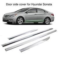 4Pcs Chrome Molding Trim Strip Door Side Cover For Hyundai Sonata YF i45 2011 2012 2013 2014