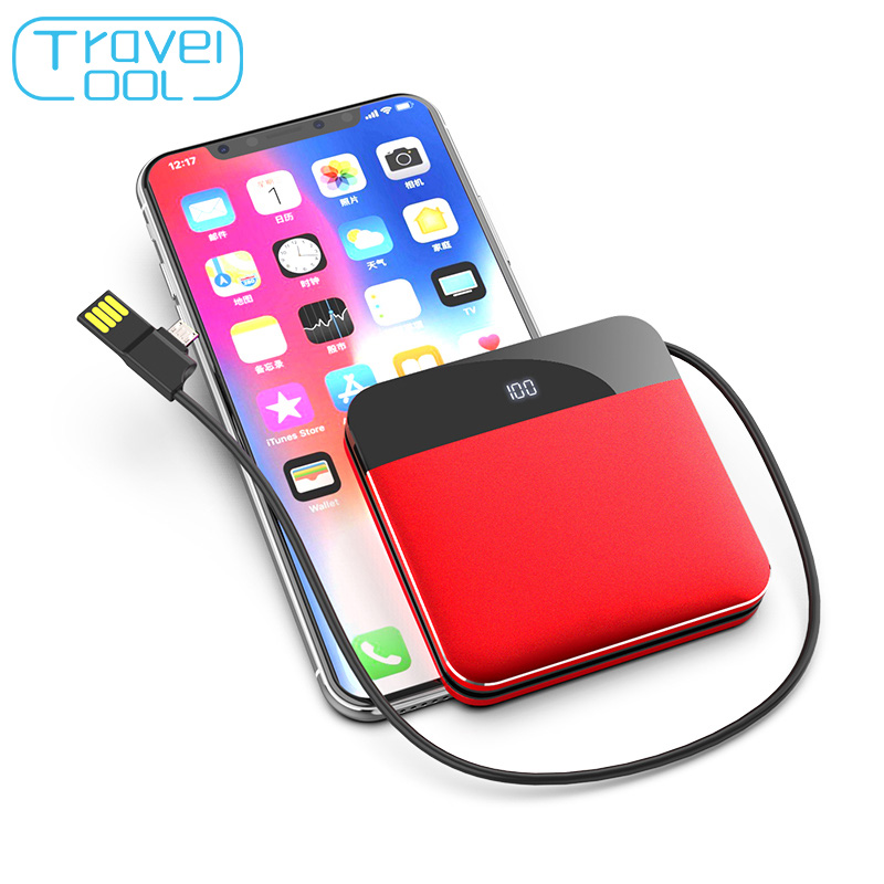Travelcool 8000mAh Built-in Mini Power Bank Cable Thin External Battery Powerbank Portable Charger for iPhone Samsung XiaomiTravelcool 8000mAh Built-in Mini Power Bank Cable Thin External Battery Powerbank Portable Charger for iPhone Samsung Xiaomi