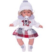 Кукла Llorens Лола в бело-красном 38 см, со звуком