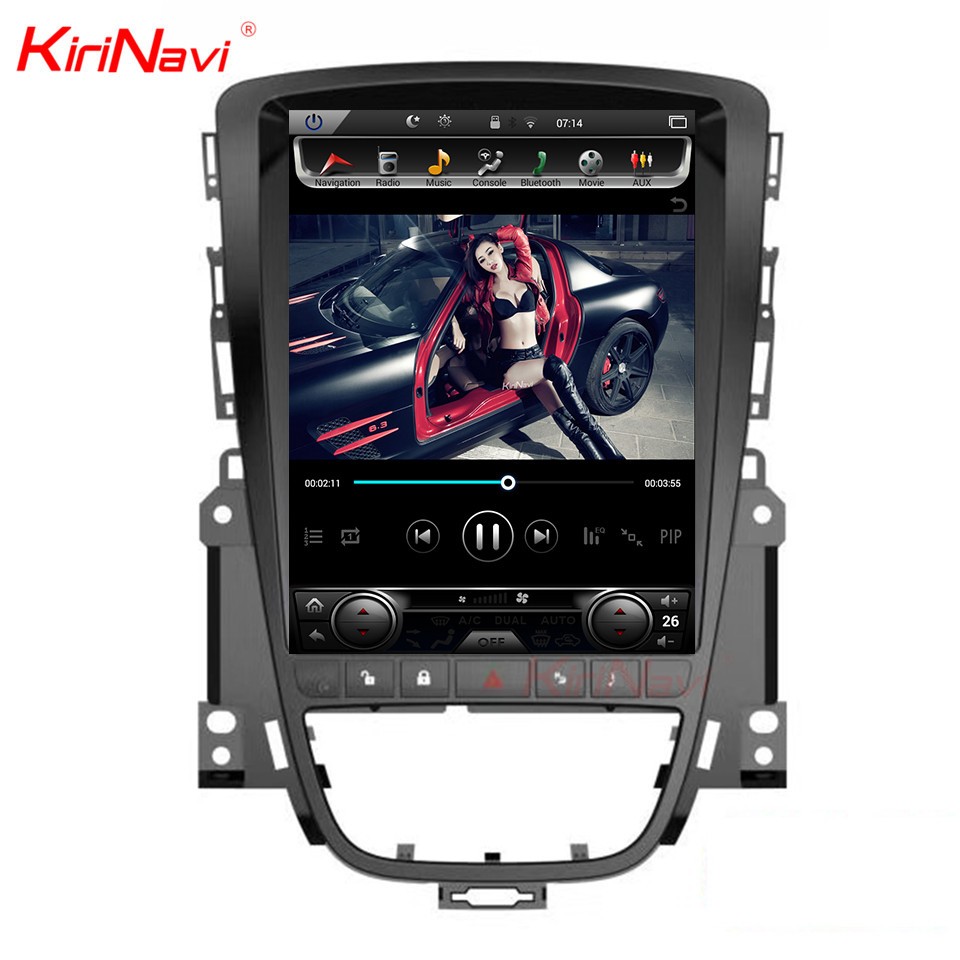 KiriNavi ecran Vertical Tesla Style 10.4 pouces ecran tactile voiture dvd Gps Navigation pour Opel Sstra J multimédia Android 7.1 2 + 32