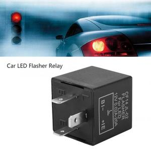 3pins Car Motorcycle LED Flasher Relay 12V Universal Electronic Adjustable Freauency LED Turn Signal Light Blinker Flasher Relay