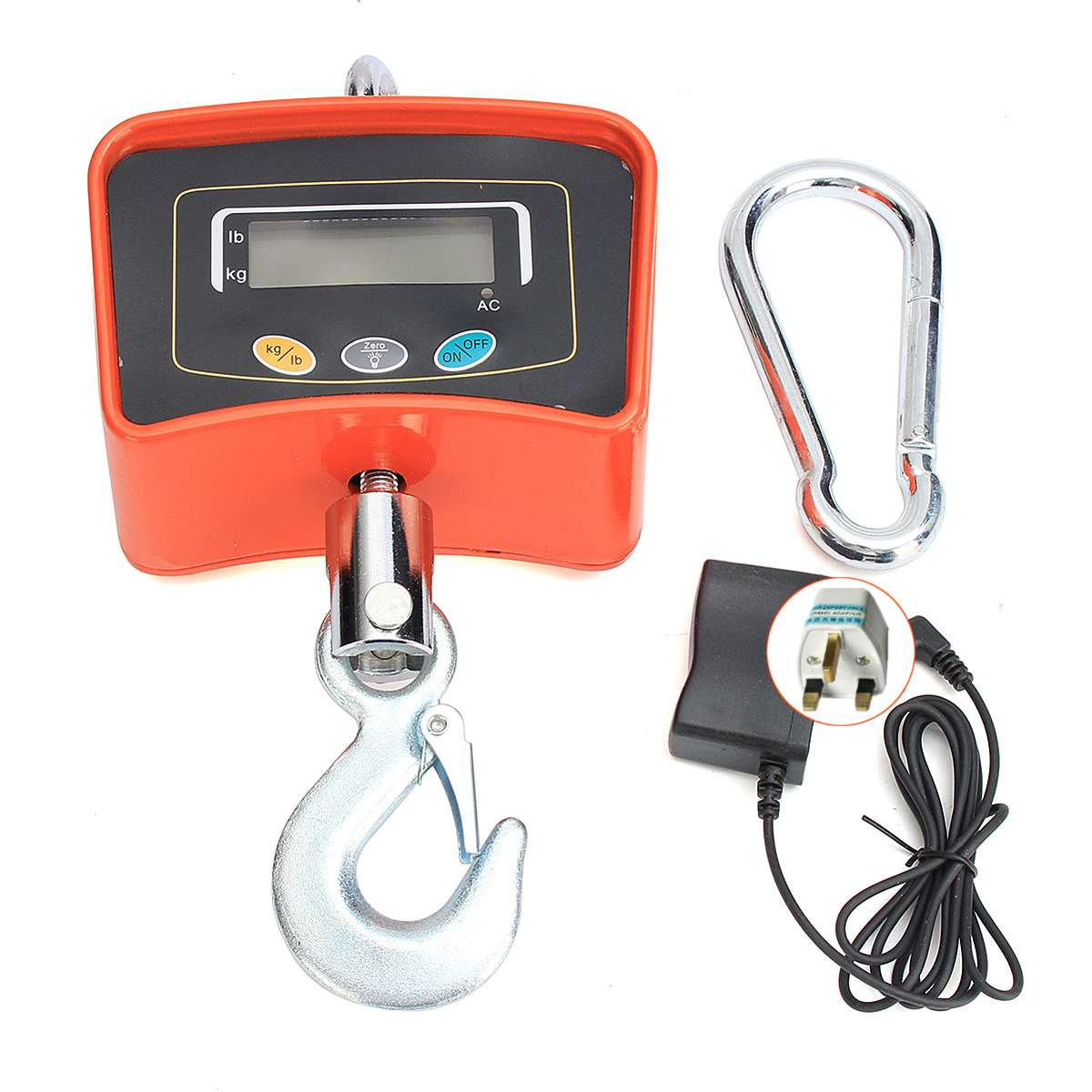 500KG/1100 LBS Digital Crane Scale 110V/220V Heavy Industrial Hanging Scale Electronic Weighing Balance Tools - 4