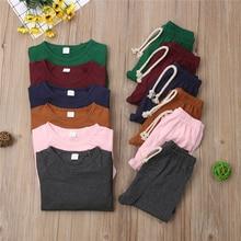 Пижамы для маленьких мальчиков и девочек 0-2 лет, одежда для сна, одежда для сна, Одноцветный Комплект для сна