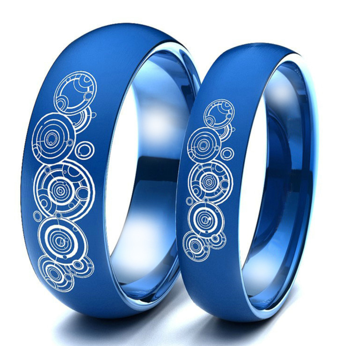 Doctor Who Sky Ladies Blue <font><b>Couple</b></font> Of Lovers <font><b>Ring</b></font> <font><b>Set</b></font> Trendy Stainless Steel Wedding <font><b>Rings</b></font> For Men Women <font><b>Couple</b></font> Unisex <font><b>Ring</b></font> image