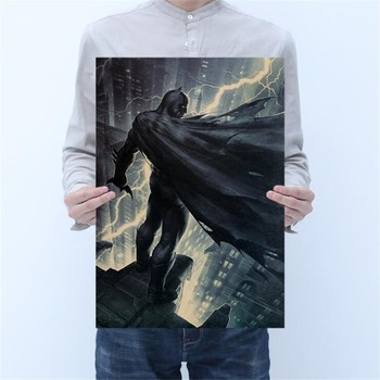 Vintage Comics Dark Knight Painting Poster Room Decoration Stickers Wall Decor Kraft Paper Home Decor Wall Sticker Posters image