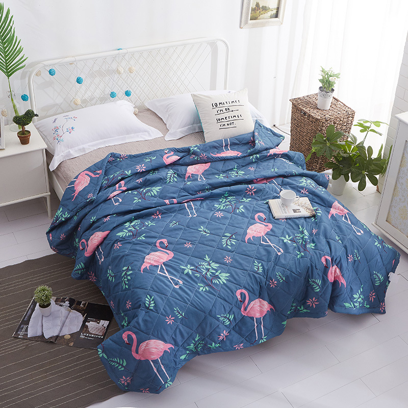 Newest Cotton Bedspread Pastoral Bird Print Throw Blanket Summer Comforter Stiching Duvet Quilt Filling Suitable for Kids AdultNewest Cotton Bedspread Pastoral Bird Print Throw Blanket Summer Comforter Stiching Duvet Quilt Filling Suitable for Kids Adult