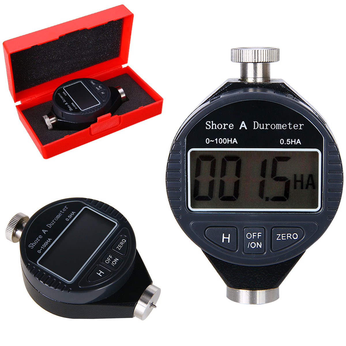 New Digital Shore A Hardness Durometer Tester Professional 0 100HA Durometer Tire Rubber LCD Meter|Hardness Testers| |  - title=