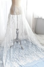 130cm Wide Snowflake Embroidered High Quality Tulle Lace Materials For Fabric Wedding Veil Fashion Mesh Dress Decoration