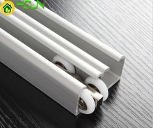 thickening Double door sliding Guide Shower room hanging rail Trumpet crane slideway Moving track Glass