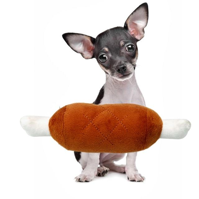 Hotdog Pet Chew Toy 1
