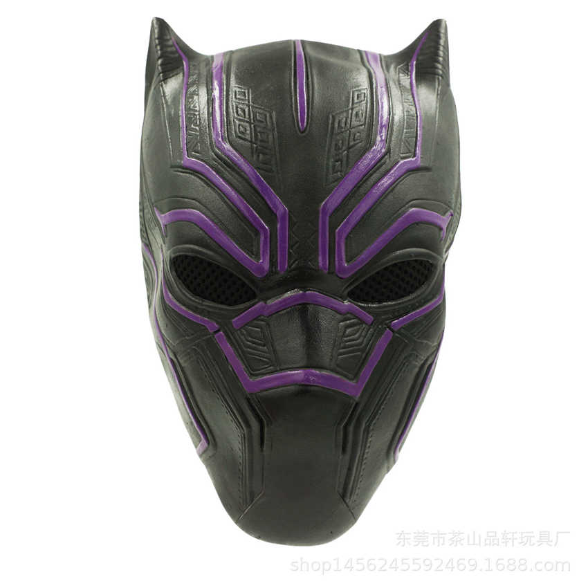 Новые мстители: Endgame Legend Balck Panther латексная Карнавальная маска Аксессуары для вечеринки в стиле Хэллоуин Шлем Супергероя костюмы для косплея