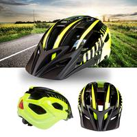 Mounchain bicicleta segurança ciclismo capacete com luz flash integrado luz capacete amarelo e preto 54-63 cm
