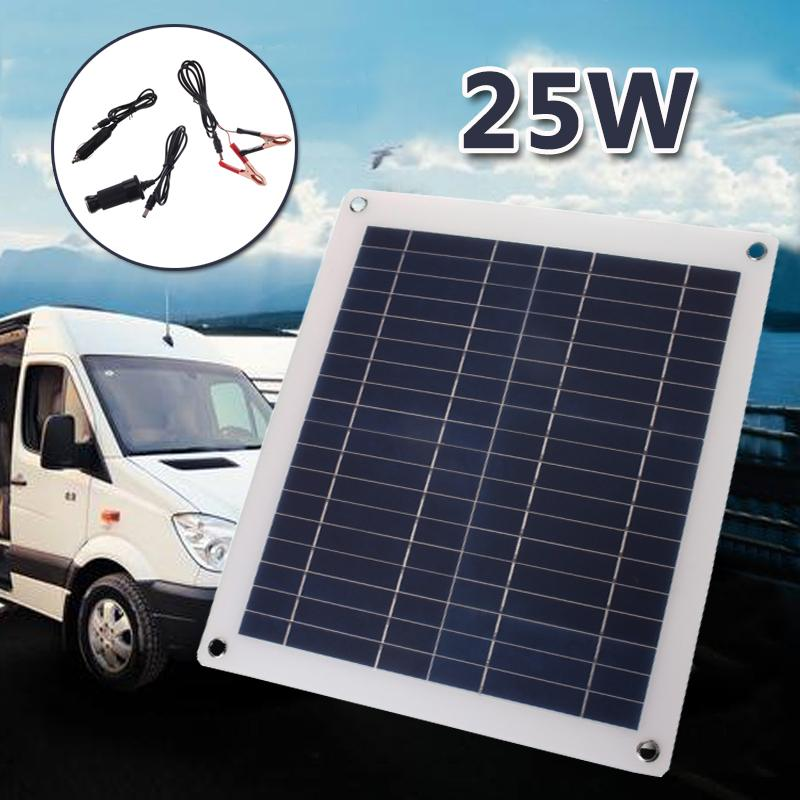Portable 25W 12V 5V Mini Solar Panel Flexible Volt Polysilicon Battery Charging System Portable 420*370mm for Home OutdoorPortable 25W 12V 5V Mini Solar Panel Flexible Volt Polysilicon Battery Charging System Portable 420*370mm for Home Outdoor