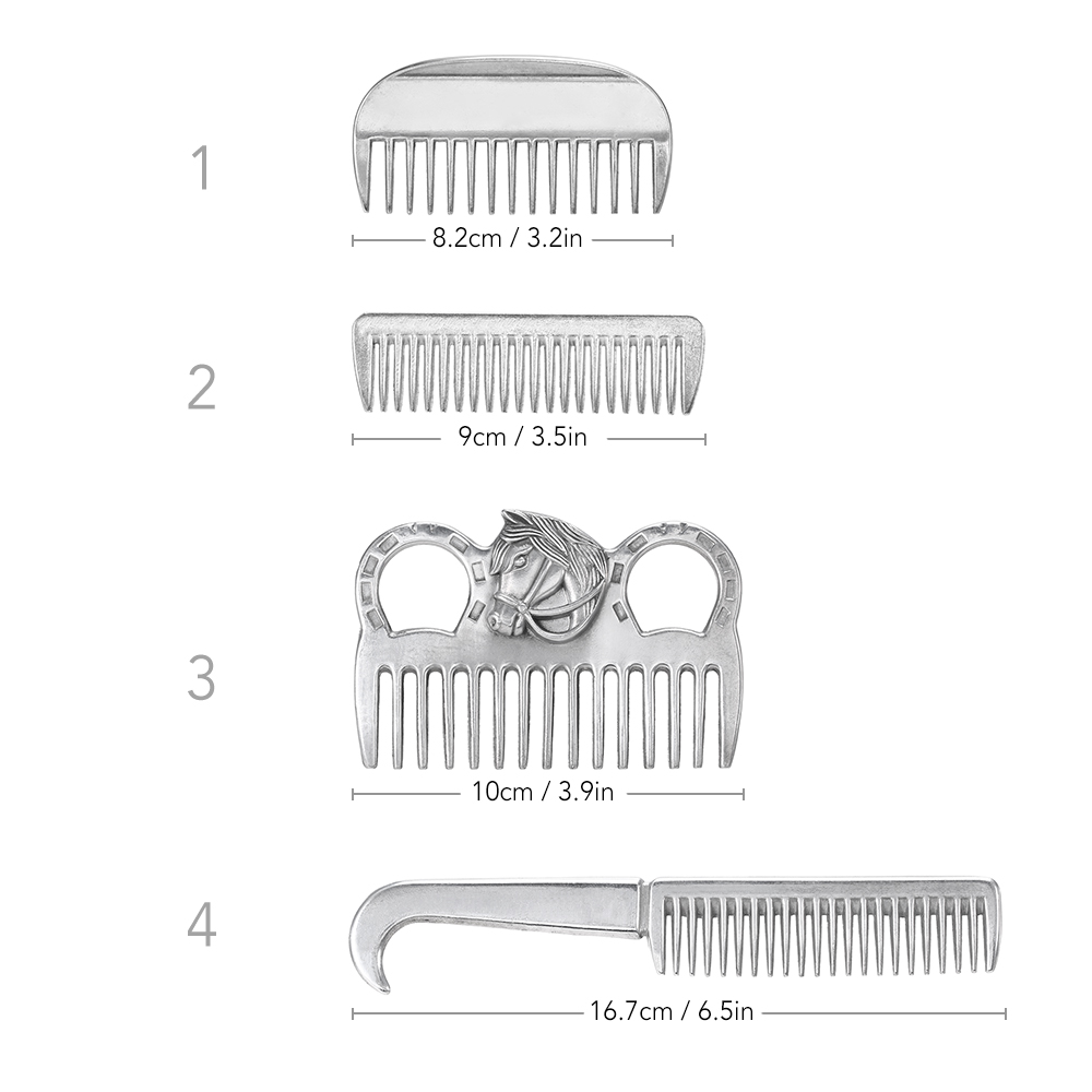 "Image 4 - Lixada Horse Comb Aluminum Alloy Horse Cleaning Tool Mane Tail Pulling Combs Grooming Equipment Horse Care Accessories 3.2 6.5""-in Horse Care Products from Sports & Entertainment"