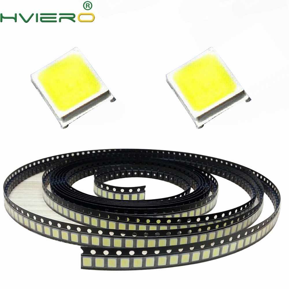 100PCS White Red Blue Green Pink Yellow Warm White 2835 SMD SMT 20mA 6000-6500K 3.0-3.4V 22-24LM LED high chip emitting diode