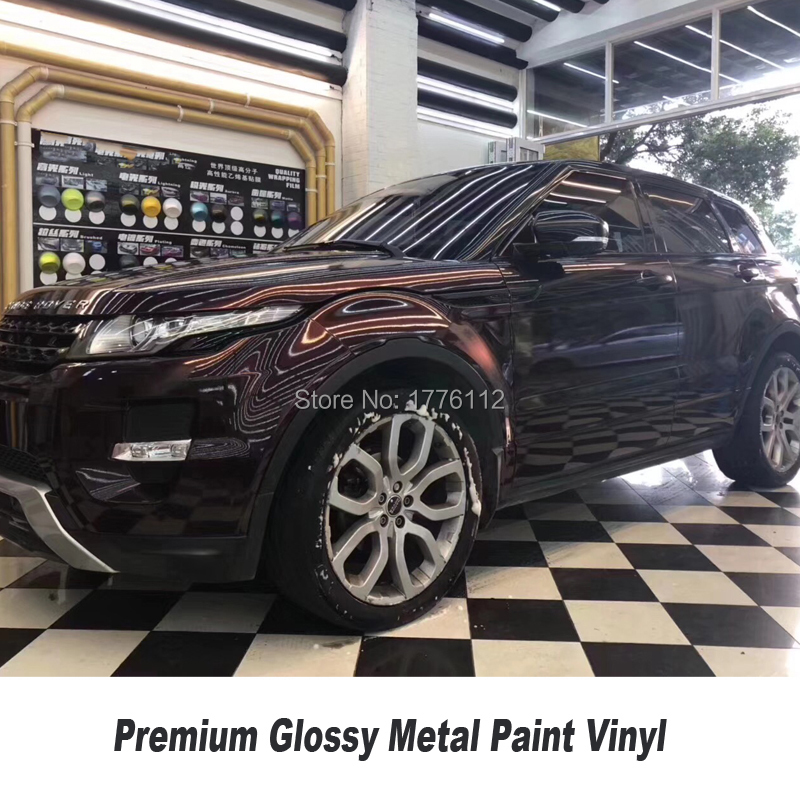 Premium series glossy metal paint wrapping film Metal paint BLACK ROSE vinyl for High end car