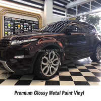 Premium series glossy metal paint wrapping film Metal paint BLACK ROSE  vinyl for High end car Customer feedback picture