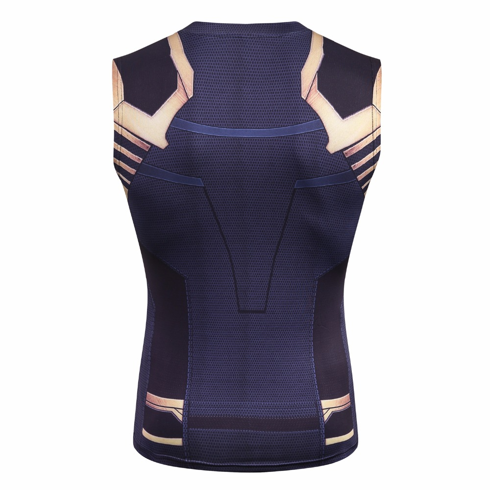 2018 Movie Avengers 3 Infinity War Thanos Superhero Cosplay Costume Summer T Shirts Mens 3D Print compression fitness Tops in T Shirts from Men 39 s Clothing