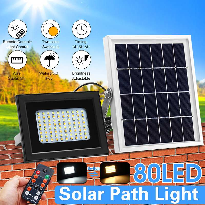 Smuxi 10W 80 LED Solar Outdoor Floodlight Camping Tent Lantern with Remote Control  3.7V Wall Lamp Waterproof IP65 4000mAhSmuxi 10W 80 LED Solar Outdoor Floodlight Camping Tent Lantern with Remote Control  3.7V Wall Lamp Waterproof IP65 4000mAh