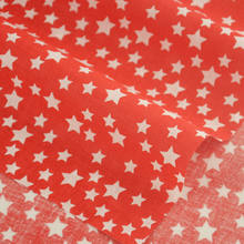 Booksew Dark Red Color Fat Quarter White Star Style Cotton Fabric Tida Tecido For Doll's DIY Sewing Crafts Home Textile Art Work(China)