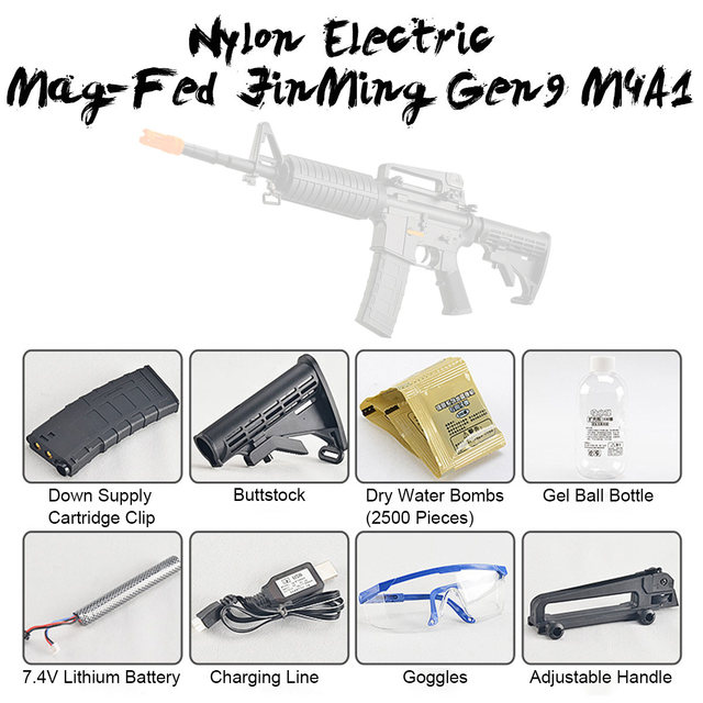 1 Set Toy Gu n Accessories Kit for Jinming 9 M4A1-Jen9 Gel Ball Bla ster Electric DIY Water Toy Gu n Parts CS Outdoor Fun