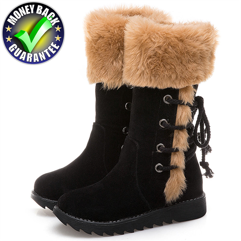 Snow Boots Women Winter Boots 2018 Winter Shoes Female Plush Warm Shoes Fashion Ankle Boots Thick Fur Cotton Botas Mujer Booties kemekiss women warm plush warm snow boots for women thick platform ankle botas female thick fur winter footwear size 36 40