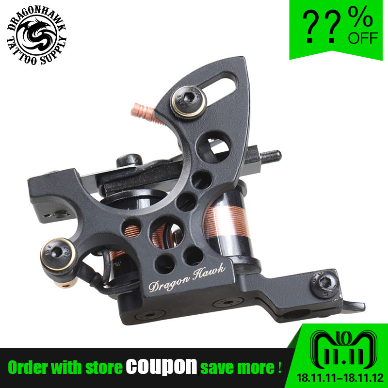 New Fashion Coloring Machine Artist Extremely Powerful Cast Iron Frame Tattoo Machine 10 Wrap Coils Tattoo Guns Tattoo Supply new cast iron tattoo machine liner