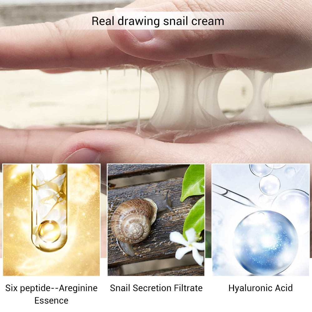 Lanbena Ageless Collagen Peptide Snail Facial Cream Eye Serum Anti Wrinkle Whitening Lifting Acne Treatment Repair Dark Circle